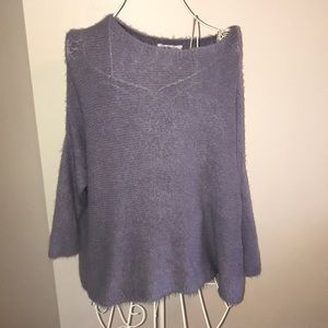 Bevello Julie Billart Lilac Slouchy Sweater